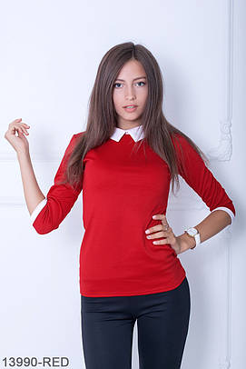 (S, M, L, XXL) Класична червона кофта Kristy