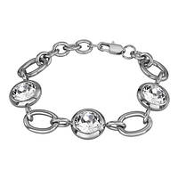 Женский браслет из ювелирной стали Swarovski-Elements