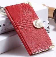 Роскошный чехол-книжка для Samsung Galaxy Note 4 N9100 красный