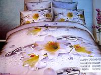 Комплект качественного постельного белья Евро размера 5D Lenjerie De Pat