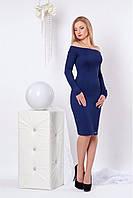 Стильное приталенное платье с длинным рукавом