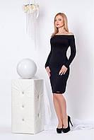 Черное классическое платье