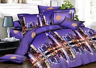 3D Комплект постельного белья Евро размера Ranforce - ночной город