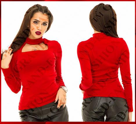 """Гольфик """"Missi"""" (модель 004) цвет красный, фото 2"""