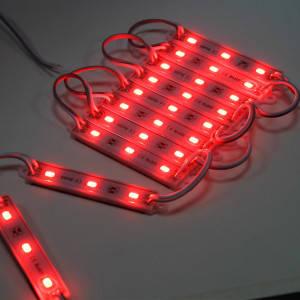 Светодиодный модуль Biom SMD5630-3*1.2W, красный свет с линзой, IP65 М2