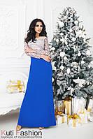 Вечернее платье Кристалл синее