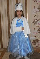 Шикарный костюм снегурочки . Детский костюм снегурочка прокат Киев