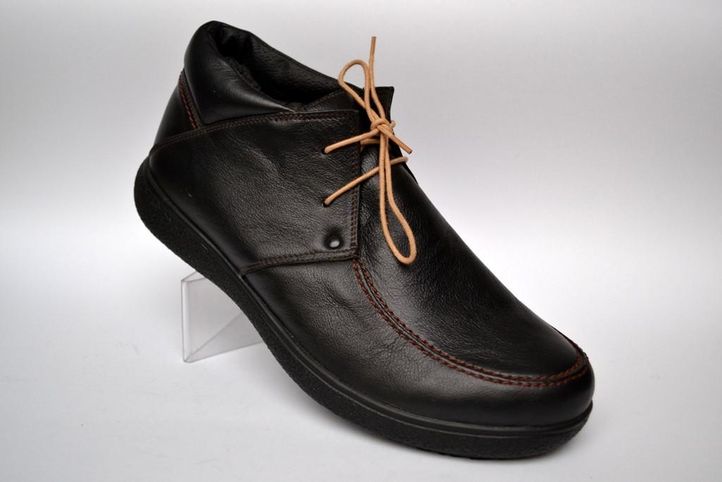 25084ca5f Большой размер кожаные зимние мужские ботинки мокасины Rosso Avangard  Basemokas BS черные натуральные
