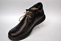 Большой размер. Кожаные зимние мужские ботинки мокасины Rosso Avangard. Basemokas BS черные, натуральные