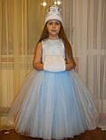 Шикарний костюм снігуроньки VIP. Дитячий костюм снігуронька прокат Київ, фото 2