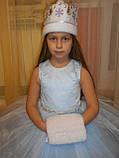Шикарний костюм снігуроньки VIP. Дитячий костюм снігуронька прокат Київ, фото 3