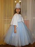 Шикарний костюм снігуроньки VIP. Дитячий костюм снігуронька прокат Київ, фото 6