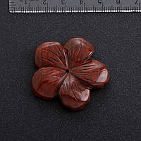 Фурнитура Цветок натуральный камень Ø 4,1 см Яшма
