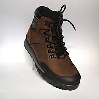 Коричневые зимние мужские ботинки Rosso Avangard  Lomerback Grayline Brown. Кожа