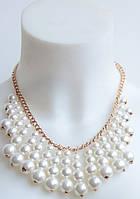 Шикарное нежное ожерелье DRESS AL-10012_бел