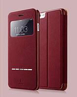 Кожаный флип-чехол Baseus Terse Series для iPhone 7 Red