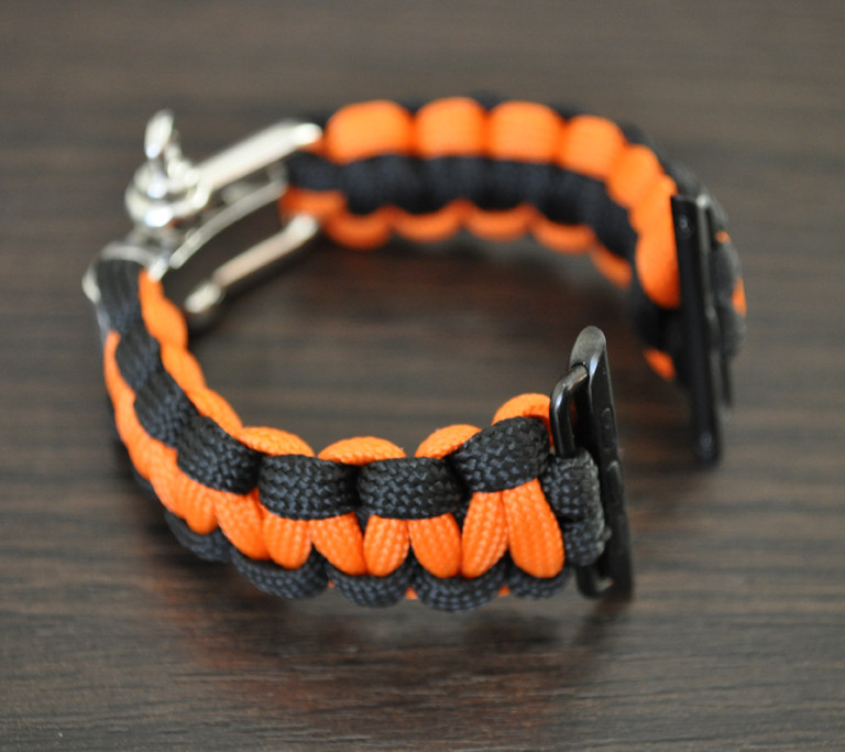 Браслет ремешок Primo Cobra Black-Orange из паракорда для Apple Watch