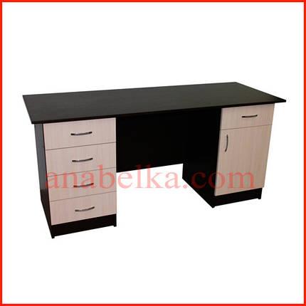 Стол письменный двухтумбовый с ящиками    ОН - 49/1, фото 2