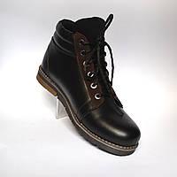 Большой размер. Зимние кроссовки мужские кожаные на меху Rosso Avangard BS Bridge Cross черные