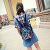 Маленький женский рюкзак в паетках, фото 3