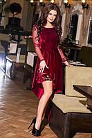К394 Вечернее ассиметричное платье