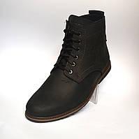 Кожаные зимние мужские ботинки Rosso Avangard. Falkoni Black черные