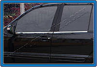 Mitsubishi Lancer X 2008+ гг. Наружняя окантовка стекол (4 шт, нерж.) Carmos - Турецкая сталь