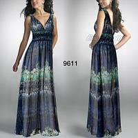 Платье в греческом стиле цвета индиго