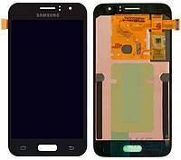Дисплей (экран) для телефона Samsung Galaxy J1 (2016) J120H + Touchscreen Original Black