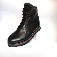 Кожаные зимние мужские ботинки Rosso Avangard. Carlo Berz Trend черные