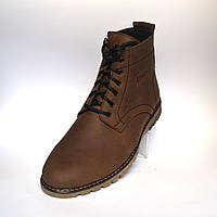 Коричневые зимние мужские ботинки Rosso Avangard. Falconi Brown кожа натуральная