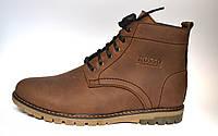 Коричневые зимние мужские ботинки Falconi Brown Rosso Avangard. кожа
