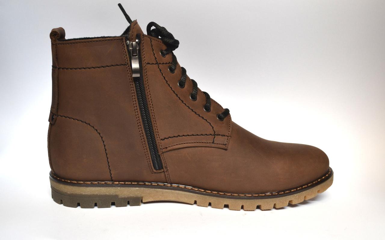 Большой размер Коричневые зимние мужские ботинки Rosso Avangard Falconi Brown кожа натуральная