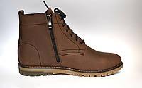 Подростковая зимняя обувь для мальчиков коричневые ботинки Rosso Avangard. Falconi Brown Teendream кожа