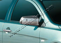 Mitsubishi Lancer X 2008+ гг. Накладки на зеркала (2 шт) Carmos - Турецкая сталь