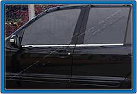 Mitsubishi Lancer X 2008+ гг. Наружняя окантовка стекол (4 шт, нерж.) OmsaLine - Итальянская нержавейка