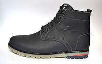 Синие зимние мужские ботинки Falconi Blu Rosso Avangard. кожаные