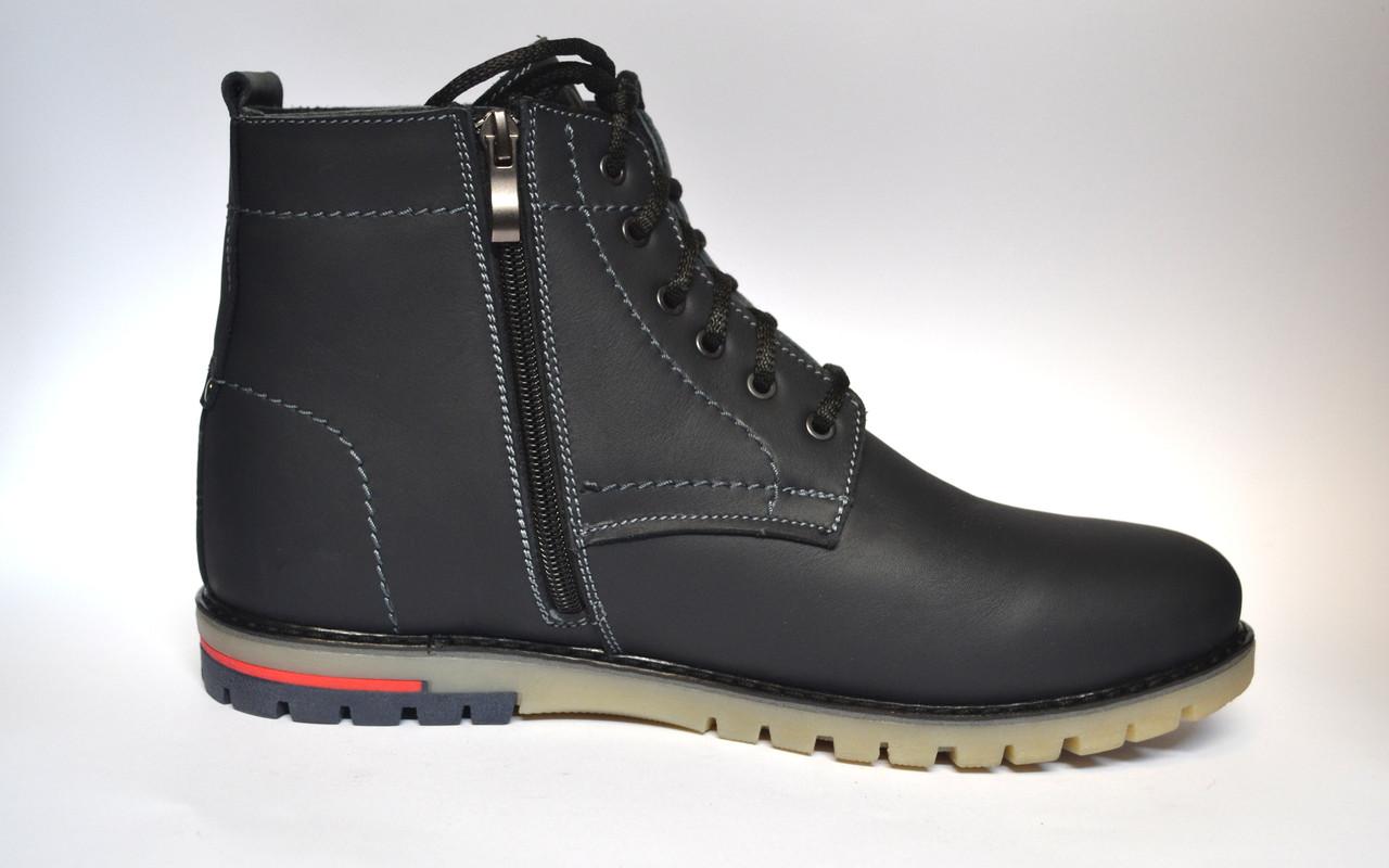Большой размер синие зимние мужские ботинки Rosso Avangard BS Falconi Blu кожаные