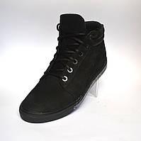 Кожаные зимние мужские ботинки Rosso Avangard. Original  черный нубук
