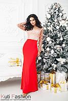 Вечернее платье Кристалл красное