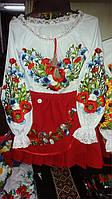 Блуза вышиванка для девочки костюм