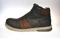 Кожаные зимние мужские ботинки Rosso Avangard. #294 Black черные