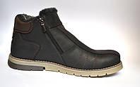 Большой размер. Кожаные зимние мужские ботинки Rosso Avangard. #294 BS Black черные