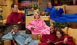 Одеяло-плед с рукавами Снагги (Snuggie) бордовый, плотность 180, фото 3