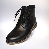 Шкіряні зимові чоловічі черевики Rosso Avangard. Falconi Black чорні, фото 1