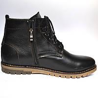 Большой размер Кожаные зимние мужские ботинки Rosso Avangard BS Falconi Black черные, фото 1