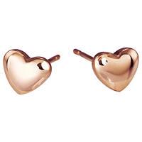 Женские серьги сердечки Rose Gold New Collection