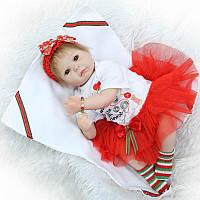 Кукла реборн новогодняя.Кукла,пупс reborn.Подарок к Новому Году.