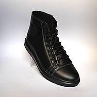 Кожаные зимние мужские ботинки Rosso Avangard. Original Black черные