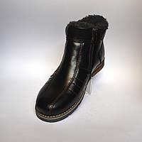 Большие размеры. Кожаные зимние мужские ботинки Rosso Avangard. #294 BS черные